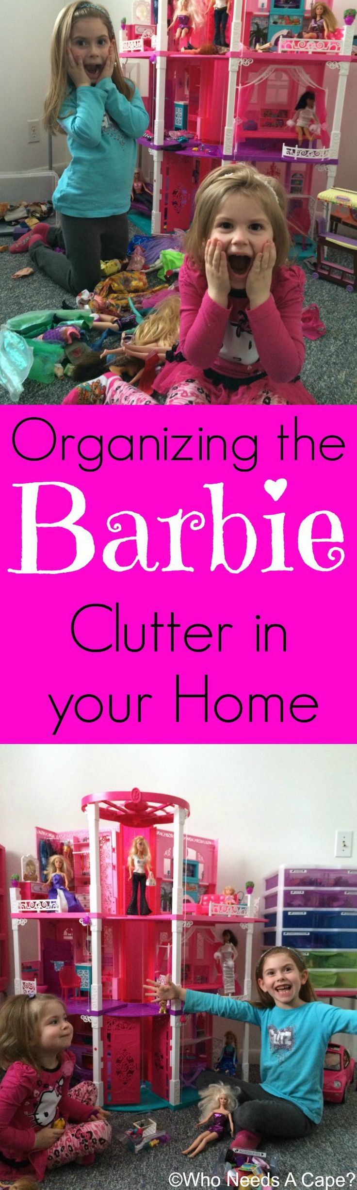 Organizing the Barbie Clutter in your Home | Who Needs A Cape?