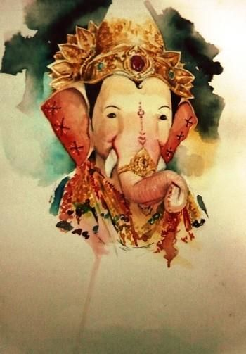 """""""Ganapati 2014"""" #Creative #Art in #painting @Touchtalent"""