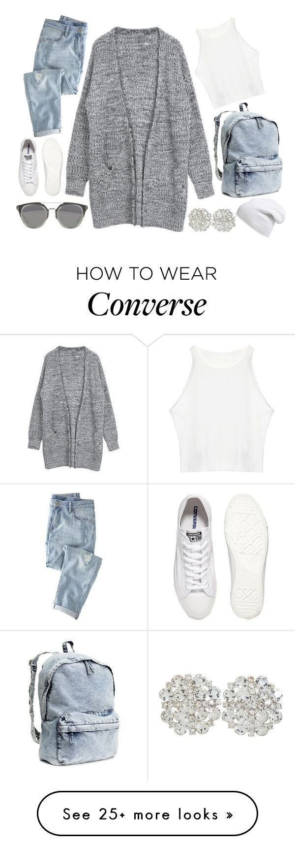 """""""Cooler Than Cool"""" by nenedopesauce on Polyvore featuring Wrap, Converse, H&M and Phase 3"""