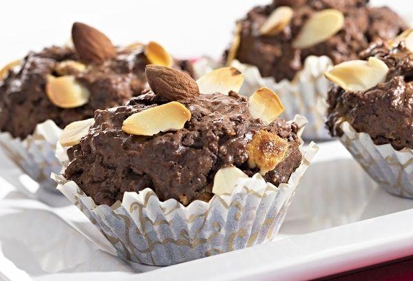 Čokoládové muffiny sovesnými vločkami