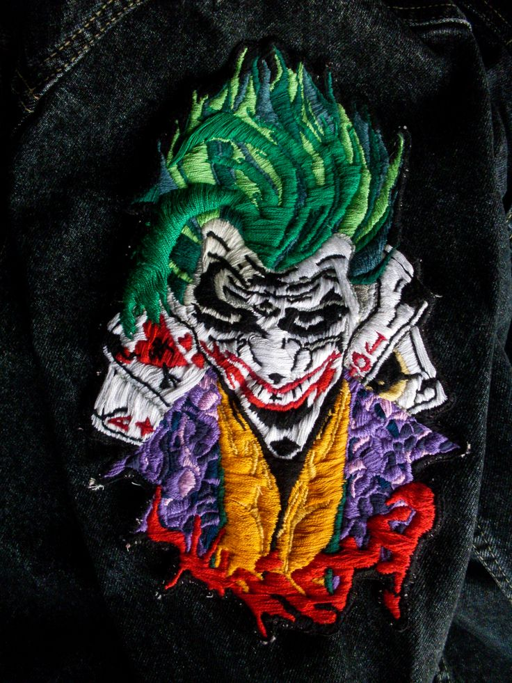 Mr. J || Why so serious? #joker #batman #badlove #crazylove #mrj #whysoserious #freak #dc #dccomics #bordado #bordadoamano #embroidery #embroiderydesign #design #fashion #fashiondesign #AlmudenaRuiperez