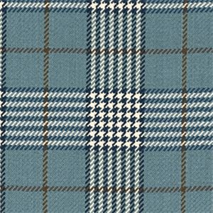 D2988 Newbury Plaid Lake Blue Plaid Upholstery Fabric by Roth and Thompkins - 56789