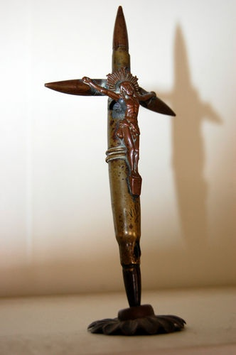 First World War Trench Art From Battle of Vimy Ridge 1917 Crucifix