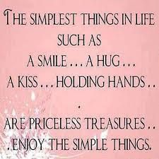 Simple yet the most valuable things in life.