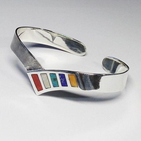 bracelet argent original du pérou