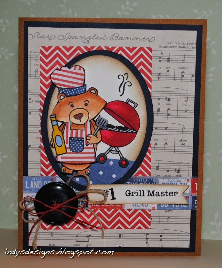Indy's Designs Grill Master card using Winston's BBQ Stamp set!