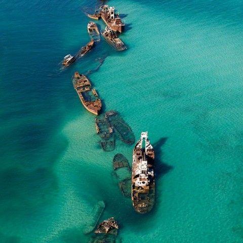 Moreton Bay Shipwrecks, Moreton Islands, Australia