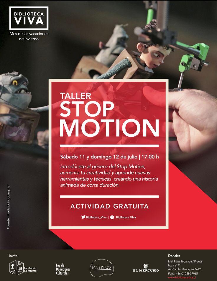 Sábado 11 y domingo 12 | 17.00 h TALLER: STOP MOTION Introdúcete al género del Stop Motion, aumenta tu creatividad y aprende nuevas herramientas y técnicas  creando una historia animada de corta duración.