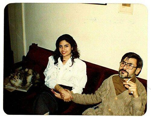 Metin Altıok, kızı Zeynep ile