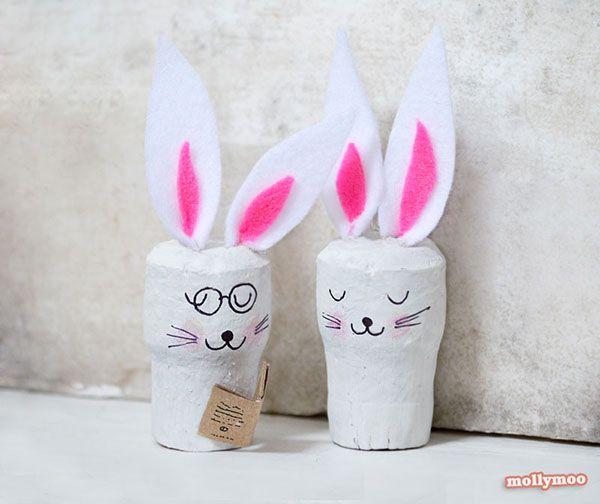 Lavoretto con tappi di sughero: i coniglietti