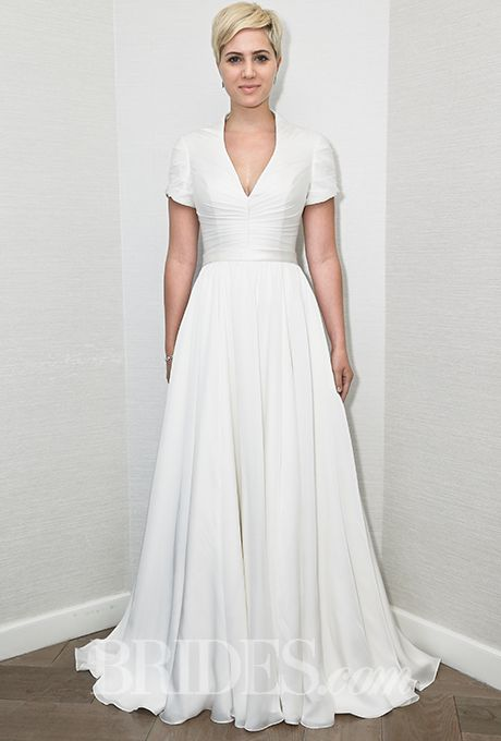 Brides.com: Steven Birnbaum - Fall 2015%0AWedding dress by Steven BirnbaumPhoto: Thomas Iannaccone