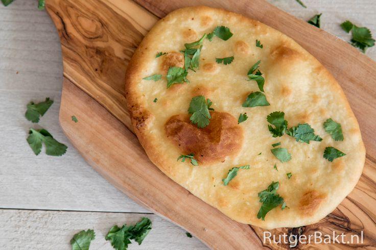 Recept: Naan met knoflook en koriander / Recipe: Naan bread with garlic and coriander