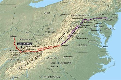 Wilderness trail through Cumberland Gap