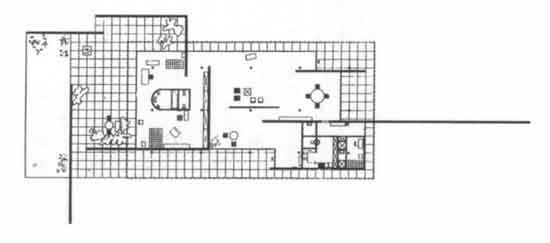 Mies van der rohe pianta della casa modello per la mostra for Casa minimalista de mies van der rohe