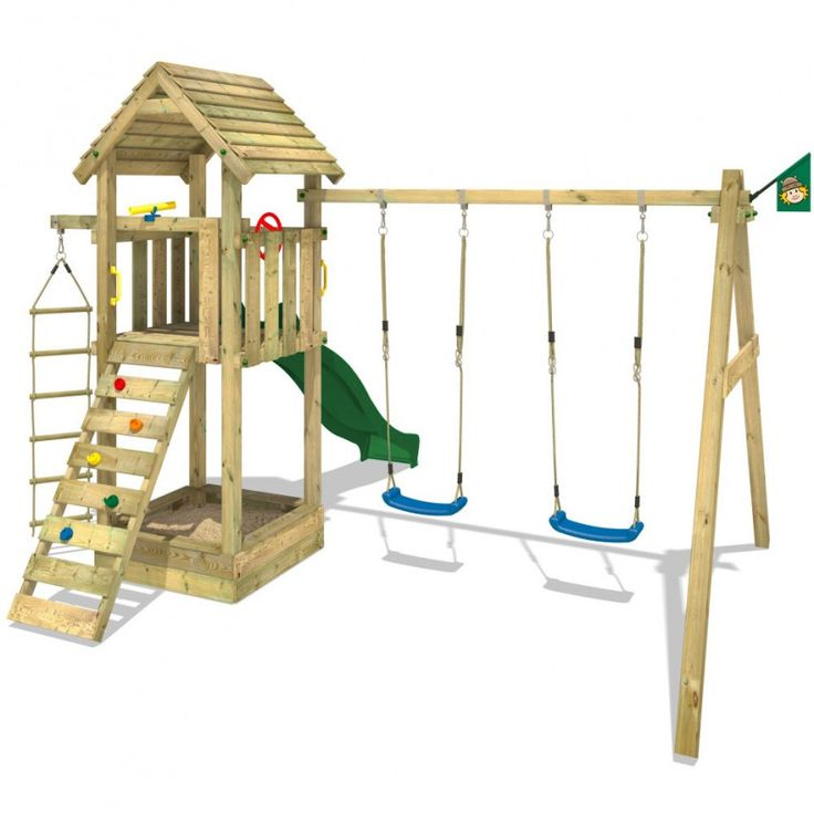 WICKEY Captain`s Tower, wooden climbing frame