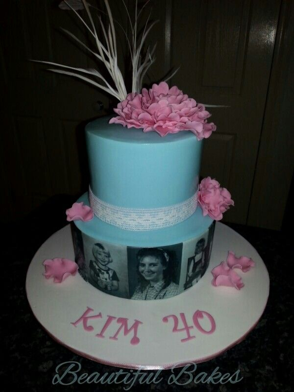 40th tiffany blue and pink birthday cake  My cakes & cupcakes  Pint ...