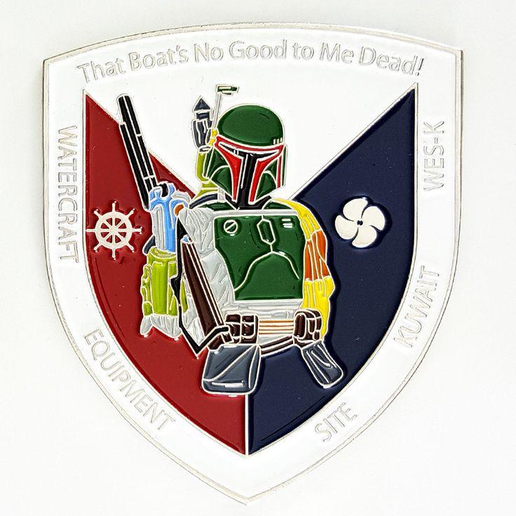 * Star Wars Boba Fett Bounty Hunter USA-Kuwait Navy Challenge Coin