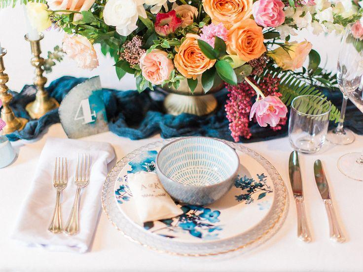Blue wedding inspiration  www.confettiand.co