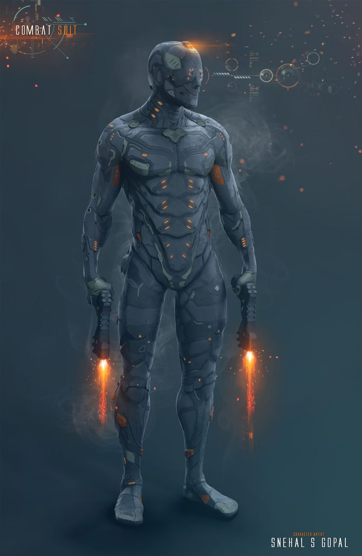 Combat Suit, Snehal S Gopal on ArtStation at https://www.artstation.com/artwork/o6zy4