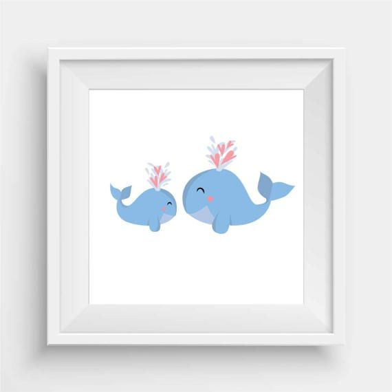 Baby Whale and mumma by agirladrift on Etsy