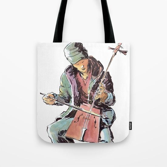 The street artist Tote Bag by World Sketching Tour - Luís Simões | Society6