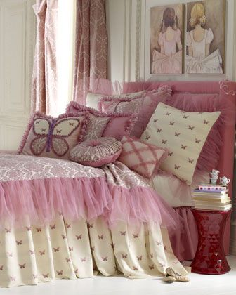 """Flutter Fantasy"" Bed Linens by Dian Austin Couture Home at Neiman Marcus."