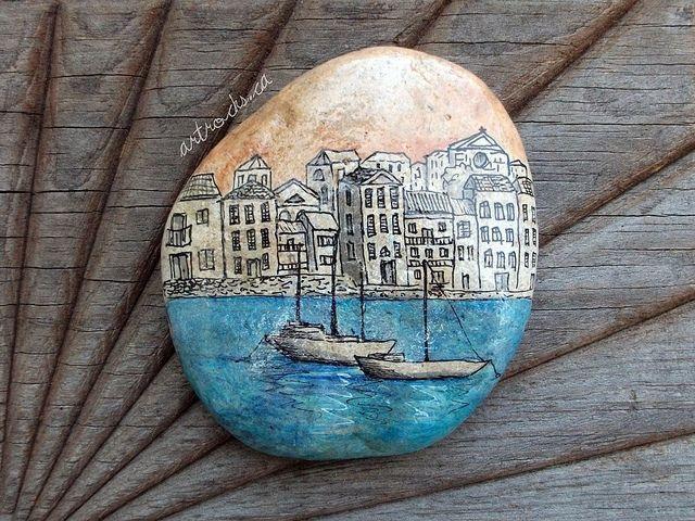 Venice Inspired Stone on Etsy by ArtRocks by Karen, via Flickr