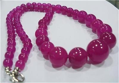 Rare-6-14mm-Brazilian-Rose-Ruby-Gems-necklace-18
