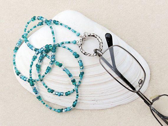 Eyeglass Loop Holder or Eyeglass Chain in Sea by CreativeGypsy, $20.00