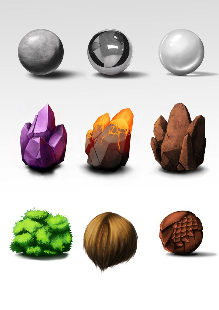 Materials Study by Milnaes on deviantART