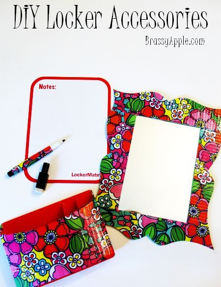 Very CUTE!! DIY locker accessories- Maybe in pink and zebra