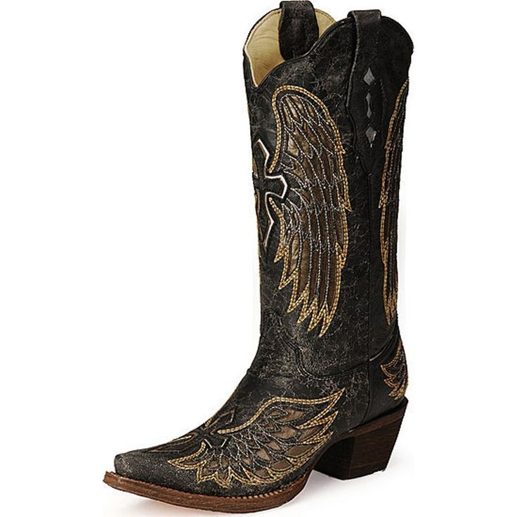 Corral Ladies Angel Wing and Cross Cowgirl Boots A1967 #Corral #CowboyWestern