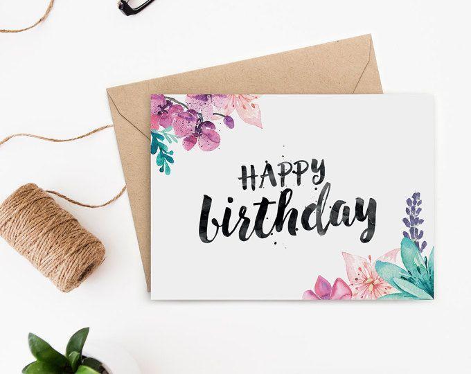 Donut Greeting Card – Kawaii Greeting Card – Printable Valentine's Day Card – Printable Donut Card