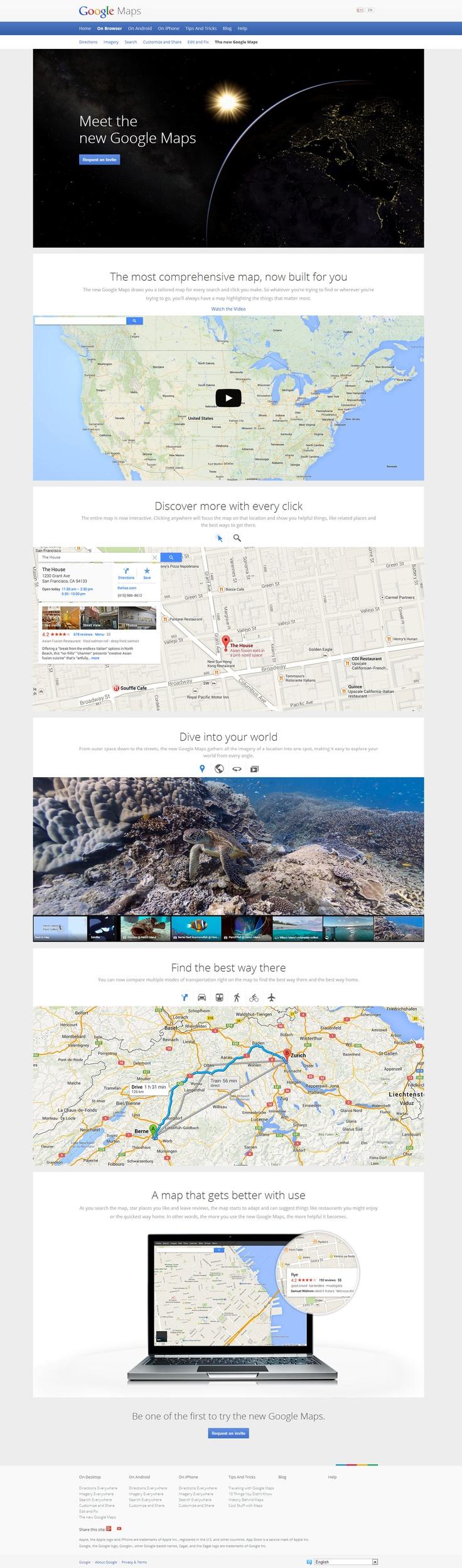 New Google Maps UI Flat