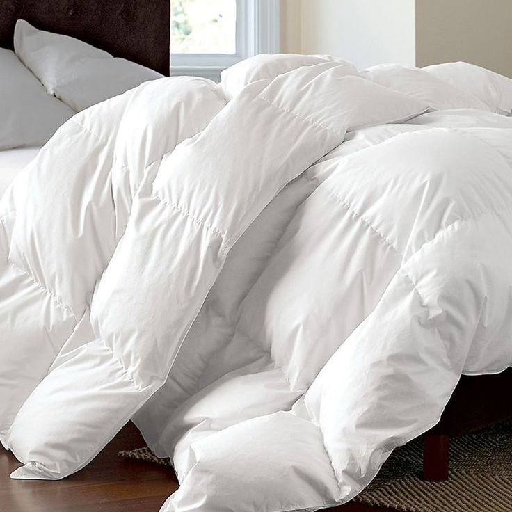 Goose Down Alternative Comforter White Set Size Twin Queen King