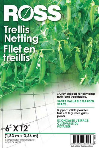 Duh! Run the peas & beans up the netting!!! No one told me this before :/Ross 12-Foot x 6-Foot Trellis Netting, Black