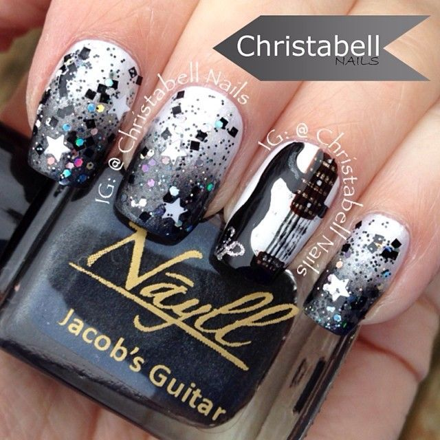 199 best musical nail art images on pinterest cute nails heels this is something id do on my nails prinsesfo Images