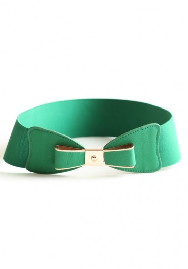 Rather have this cute green belt with the Striped Top Green Dress.  (the sash bow is better for skinny-minnies)
