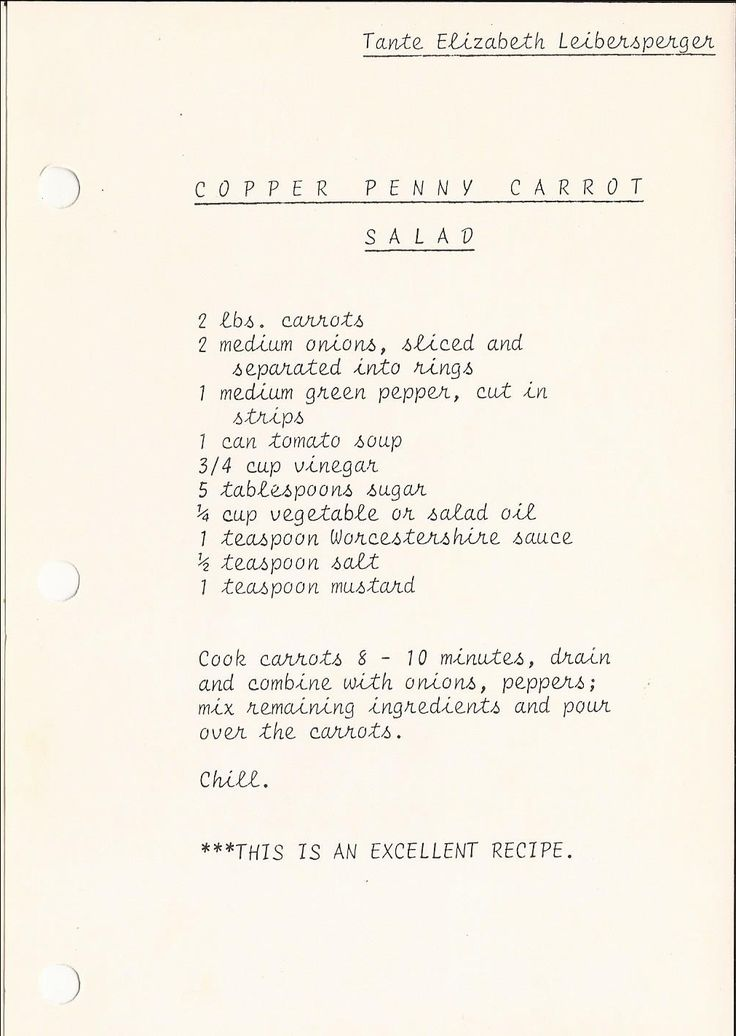 Copper Penny Carrot Salad
