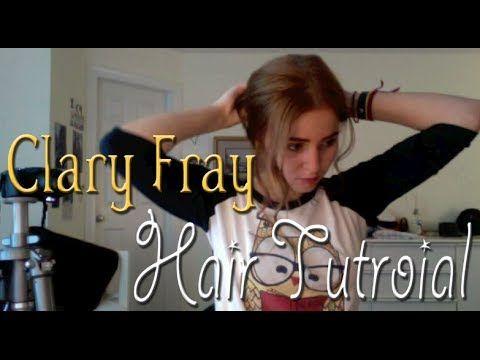 Clary Fray messy bun tutorial