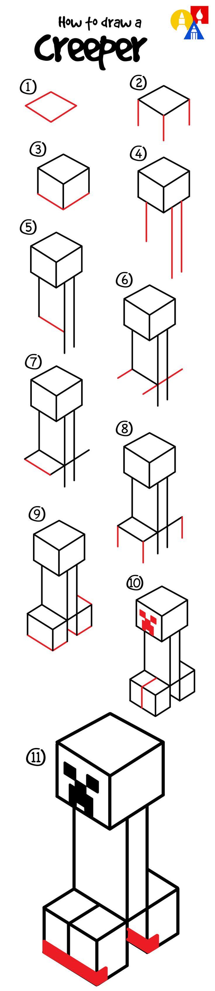 como desenhar um creeper :3                                                                                                                                                                                 Mais