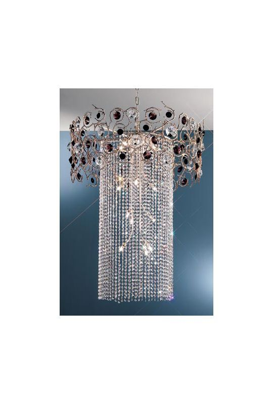 """Classic Lighting 10035-SF 36"""" Crystal Chandelier from the Foresta Colorita Colle Black and Amethyst Indoor Lighting Chandeliers"""