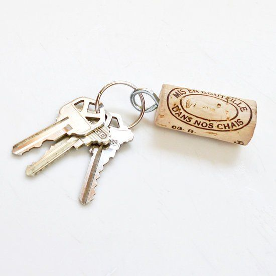 Wine-Cork Key Chain