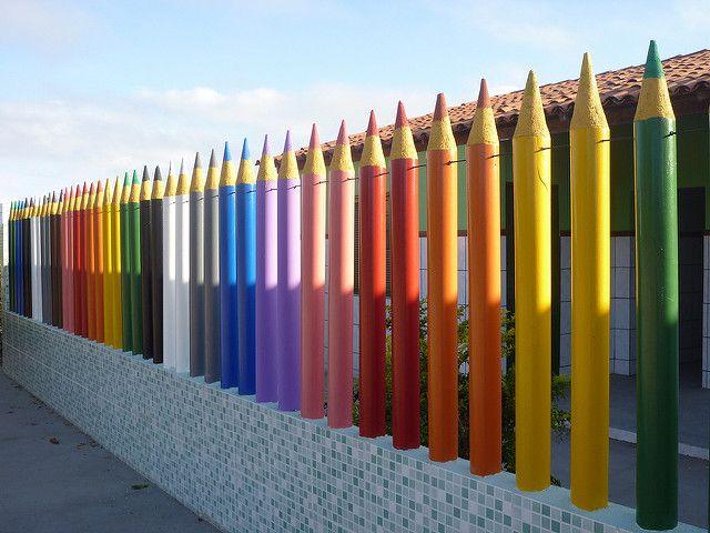 Rainbow Fence   Basic school in brazilian interior, Reconcav…   Flickr