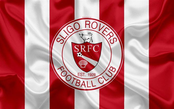 Download wallpapers Sligo Rovers FC, 4K, Irish Football Club, logo, emblem, League of Ireland, Premier Division, football, Sligo, Ireland, silk flag, Irish Football Championship