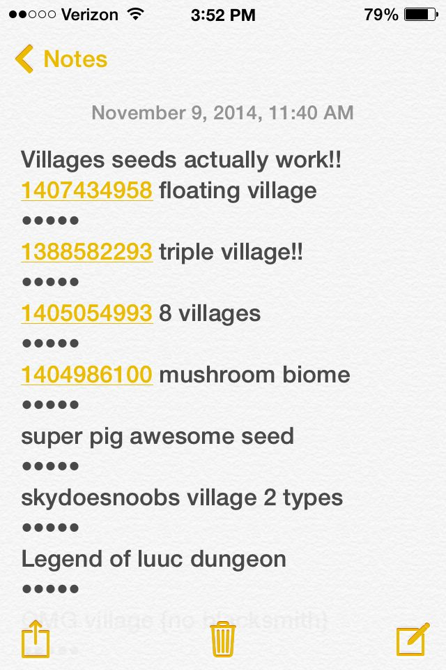 If you play minecraft pocket edition 0.9.5 here are some awesome seeds to try! I tests them and they worked!!