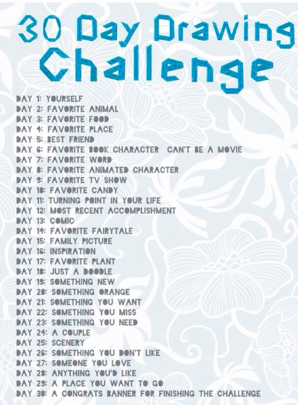 30 day drawing challenge u guys should all do it is super fun