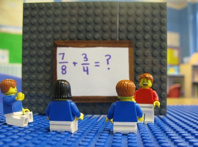 Lego Fractions!  In French!
