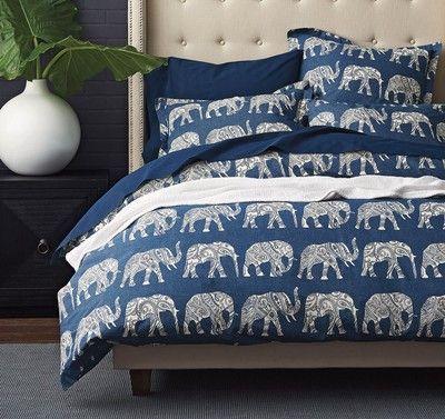 Raja Elephant Percale Duvet Cover / Sham