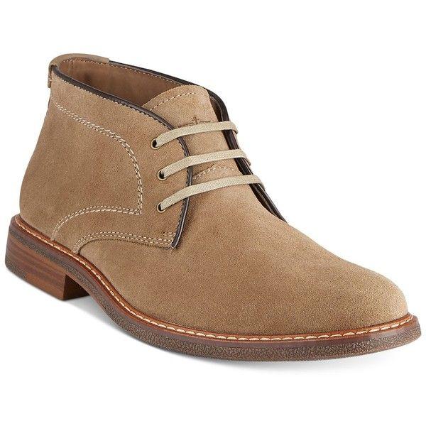 Dockers Men's Longden Boots ($90) ❤ liked on Polyvore featuring men's fashion, men's shoes, men's boots, taupe, mens leather chukka boots, mens leather shoes, mens chukka shoes, mens chukka boots and dockers mens boots